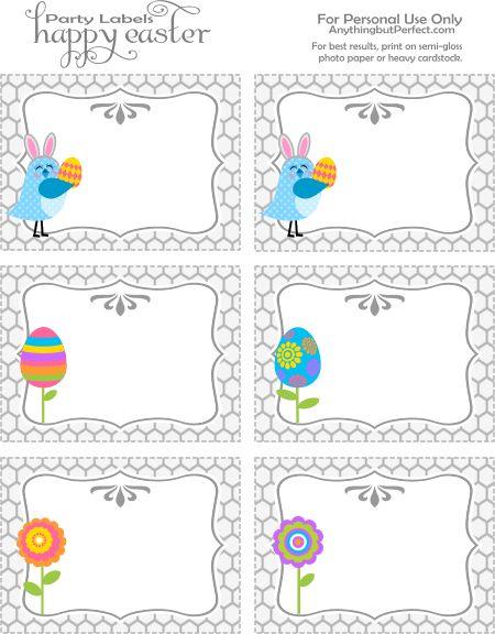 Tarjetas de Pascua. - Easter tags.