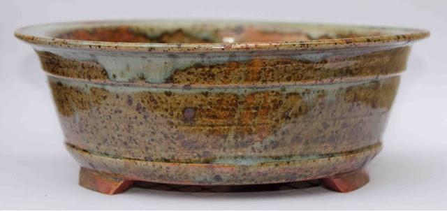 Bonsai planter,shino style glaze