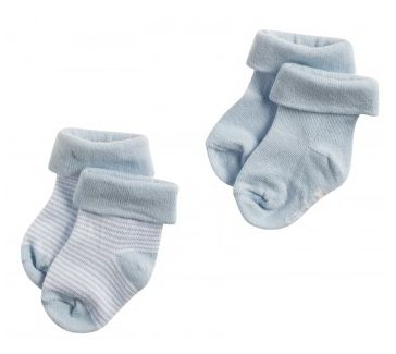 Noppies newborn sokken Light blue 67325  Baby's voetjes mogen gezien worden in Noppies sokjes Guzzi. Deze fijne babysokjes geven iedere outfit een speelse touch. Daarnaast zijn ze heerlijk warm en gemaakt van soepele stretchy materialen.  EUR 5.95  Meer informatie