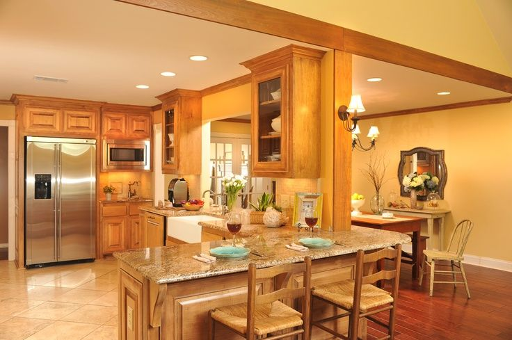 Open kitchen to dining room design ideas for Open kitchen dining room ideas