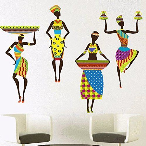 DeStudio African Woman, Multi Color, Wall Stickers (Wall Covering Area : 125cm X…