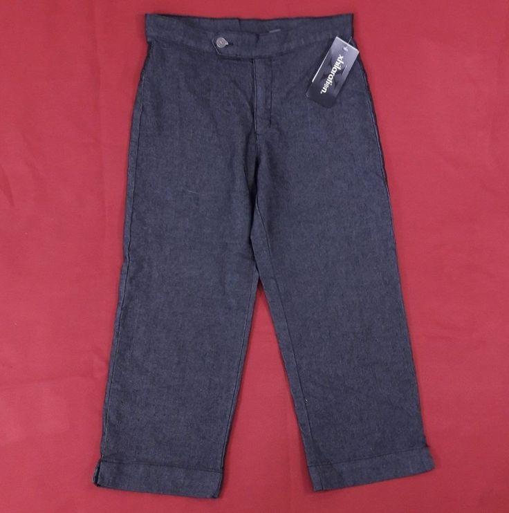 NEW XHILIRATION Womens Cropped Capri Pants Sz 11 Striped Texture Jeans Bareback #XHILARATION #BAREBACKTOTHEWAISTSTRETCH