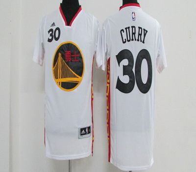 NBA Golden State Warriors 30 Stephen Curry White Chinese New Year Basketball Jerseys