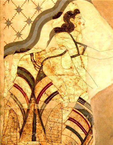 Minoan woman fresco