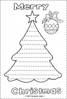 Print out christmas tree write a letter template to santa claus - Printable Coloring Pages For Kids