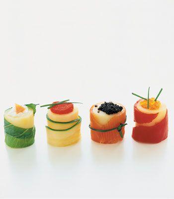 Sushis de batata. Veja a receita no site: http://www.batatasdefranca.com/receitas/entradas.html#!prettyPhoto[sushi]/0/  #Batata #Receita #Comida #Entradas #Batatas #Cozinhar #sushis #sushisdebatata