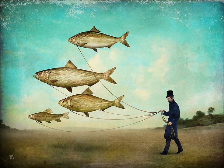 294 best images about art on a leash or string on pinterest for Fish on a leash