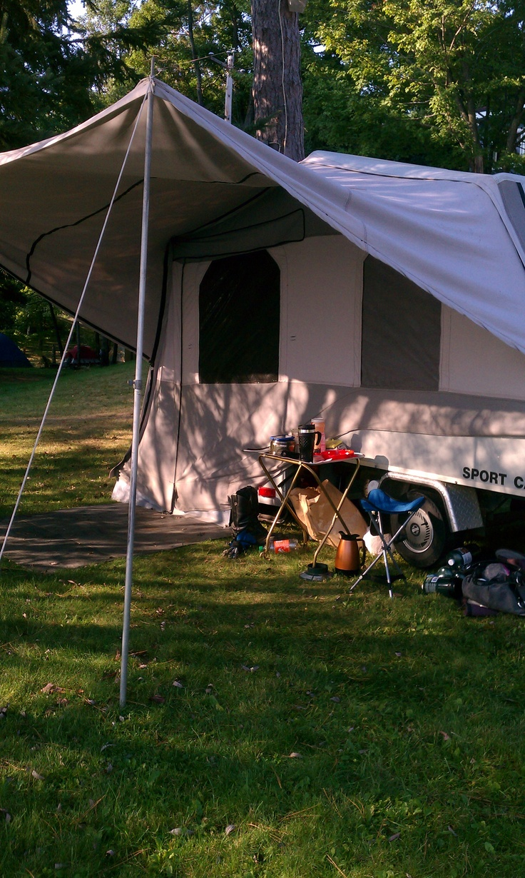 Camping with our pull behind the motorcycle camper