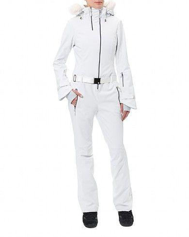 Take to the slopes in this sleek high-stretch ski suit with a removable hood. In wind and waterproof fabric with insulating eco-friendly thermal lining formed of ground coffee, it's highly technical for a day on the slopes. Designed in 4 way stretch fabric for ease of movement, wear or detach the belt and faux fur collar, and secure essentials in the water-resistant zip pockets. A new RECCO reflector offers sophisticated radar technology which enables mountain rescue teams to find you on the…
