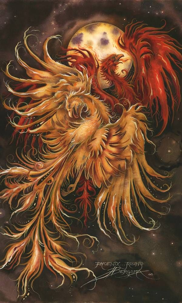 Bergsma Gallery Press::Paintings::Fantasy::Mythological Creatures::Phoenix Rising . . . - Prints