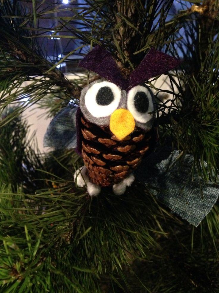 Búho árbol de Navidad.