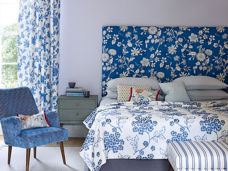 Jane Churchill Fabrics - effective blend of florals and geometrics - big trend for 2013