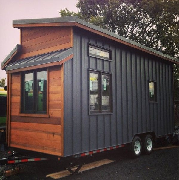 I love the exterior.  The 224 Sq. Ft. Cider Box Tiny House by ShelterWise