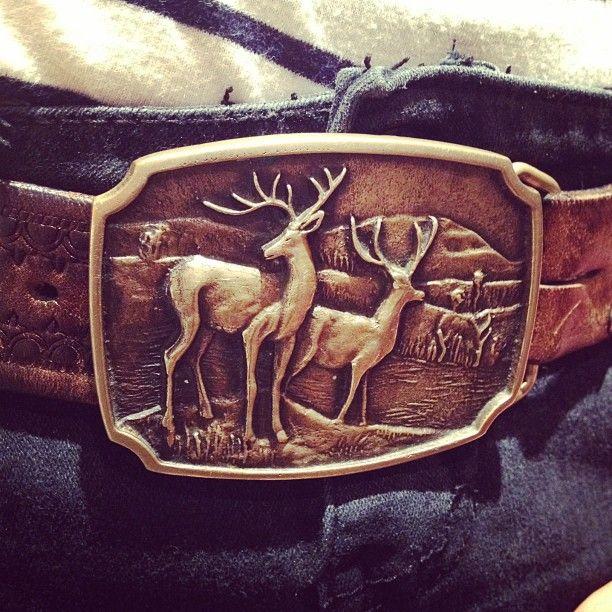 My oh so lovely deer belt buckle