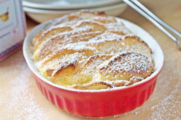 Dieses Rezept vom #Apfelauflauf ist eine köstliche Süßspeise. Besonders Kinder lieben dieses Gericht.