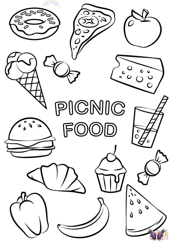 Picnic Food Coloring Page Free Printable Coloring Pages Br 2020 Doodle Desenleri Desenler Doodle
