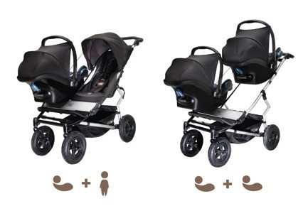 Mountain Buggy Evolution Duet Twin Buggy