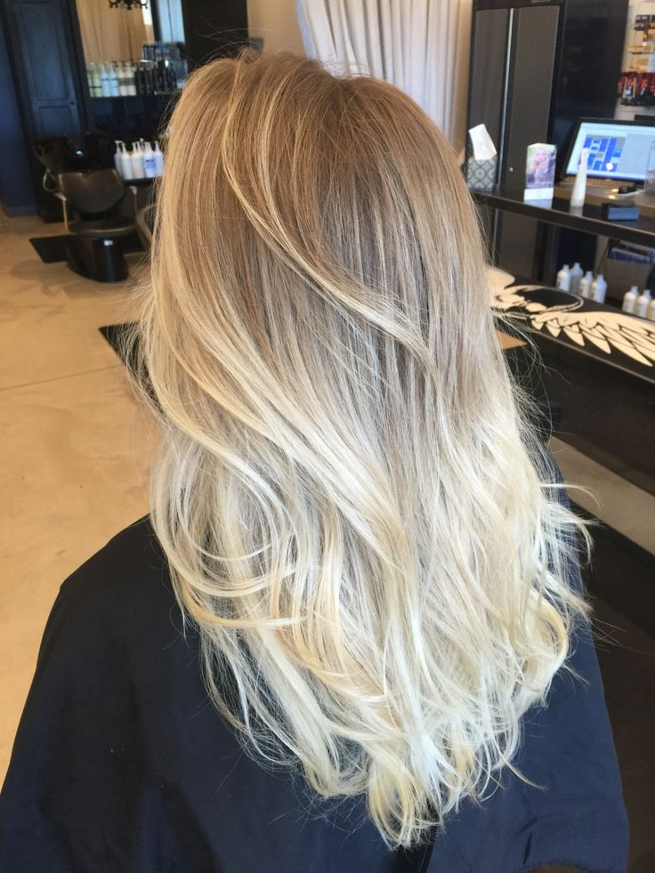 Blonde hair ombré. Long hair. Ash blonde. Sombre. Follow me on IG…