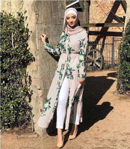 tropical open dress,Hijab outfits in summer spirits \u2013 Just Trendy Girls