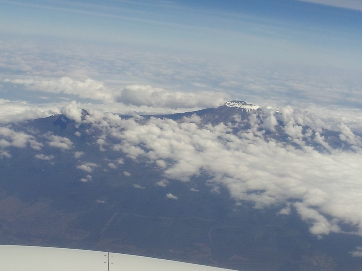 Flight over Kilimanjaro