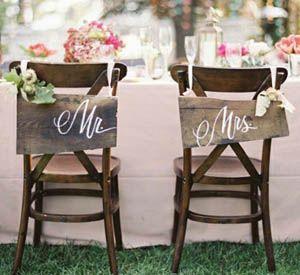 » [DIY] Les chaises des mariés #mariage #wedding