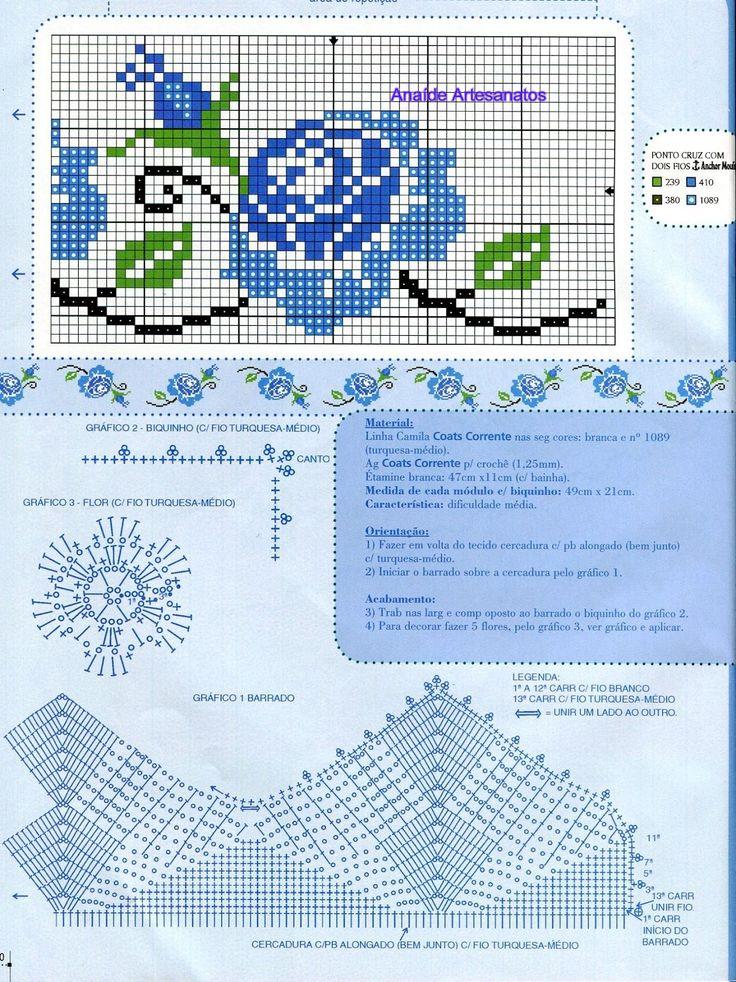 Anaide Ponto Cruz: Gráficos de barrados em ponto cruz.