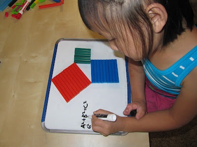 The Pythagorean Theorem With Cuisenaire Rods