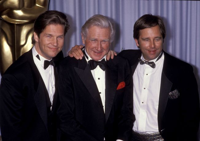 Lloyd Bridges with his sons Beau and Jeff