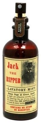 Jack the Ripper Lavatory Mist  Slash unpleasant bathroom odors with two quick sprays.  $11.95