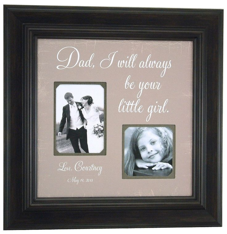 Father of the Bride Picture Frame Gift