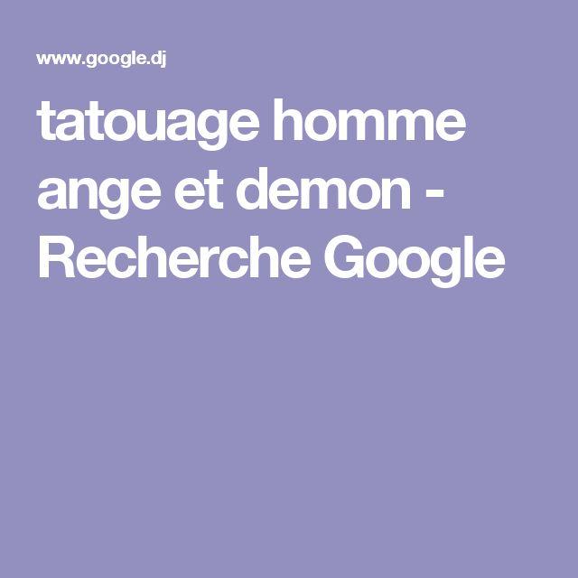 tatouage homme ange et demon - Recherche Google
