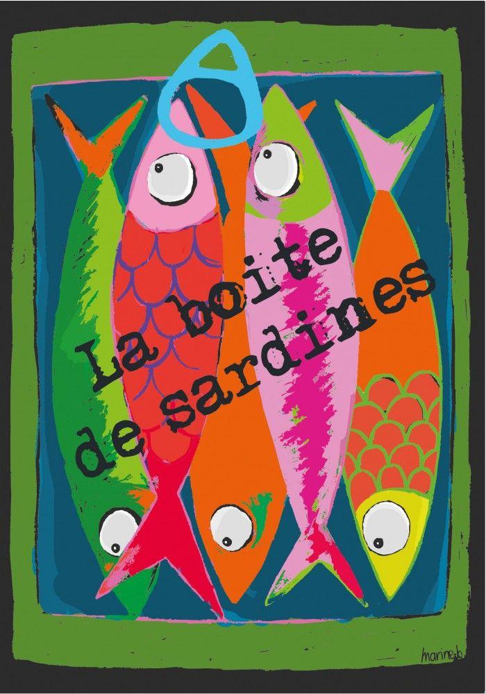 17 meilleures id es propos de peintures de poissons sur for Deco bocal poisson