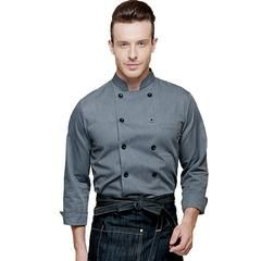 M104C590A - Modern Gray Chef Coat. BestChef Store ® (Canada) offers an extraordinary selection of finely crafted and stylish #chefcoat, #chefjacket, #chefpants, #chefaprons, #baristaaprons, #denimapron, #chefhats,#chefknife. Сhef gear designed by chefs for chefs. We are bringing style, identity and personality into the restaurant life! Enjoy your work! www.bestchefstore.com