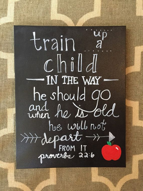 Proverbs 22:6 Canvas Painting by proverbs22six on Etsy