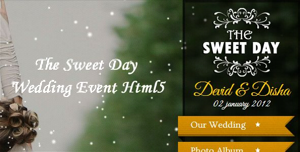 The Sweet Day Wedding Event Html