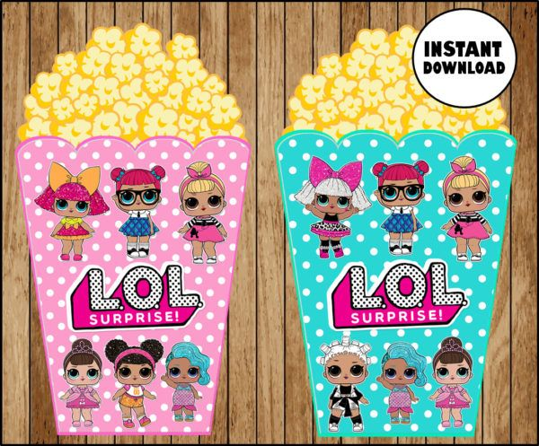 LOL Überraschung Dolls Cupcakes Topper, druckbare LOL Dolls Party Topper, LOL Surp …   – Kids Party ideas
