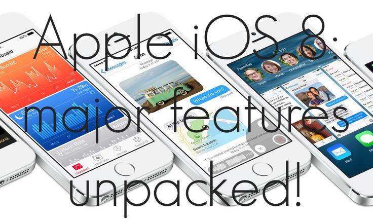 Apple iOS 8: major features unpacked!
