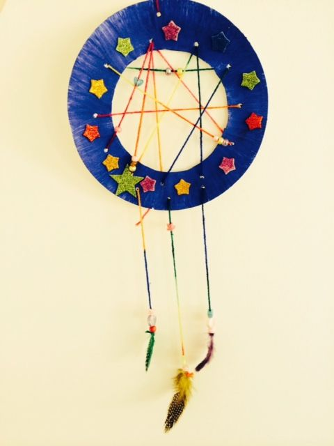 Craft Ideas For Kids Paper Plate Dream Catcher Preschool