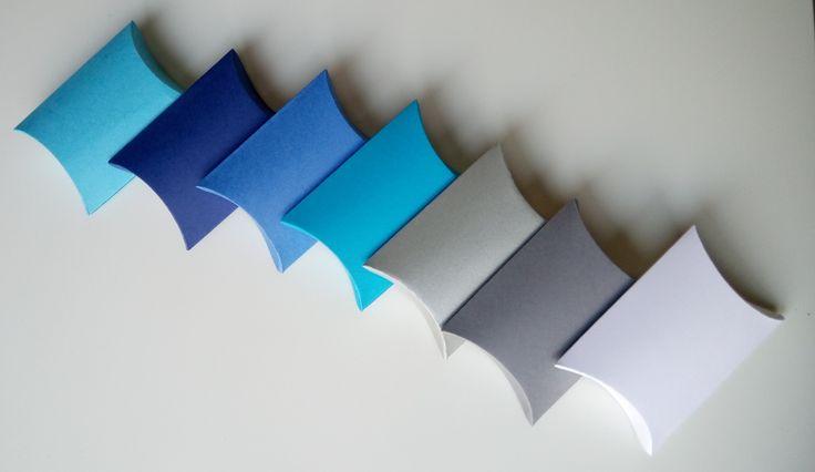 lot de 10 boites à dragées bleu turquoise (coussin, oreiller) pour mariage ou baptême