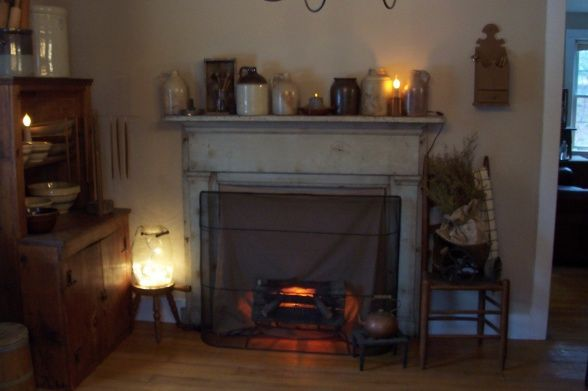 57 best images about decorating with mantels on - Living room dining room with fireplace ...