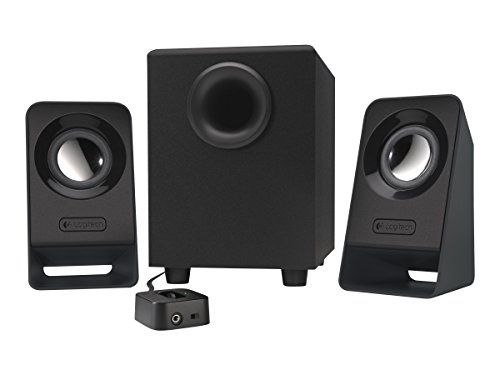 Logitech Multimedia Speakers Z213 Full Bass compact design. Add a richer deeper sound experience to YouTube videos streaming movies your favorite music and games. Compact satellite speakers deliv...