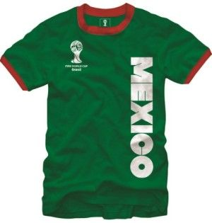 Mexico FIFA 2014 World Cup Soccer Core Ringer Men's T-Shirt available at  http: