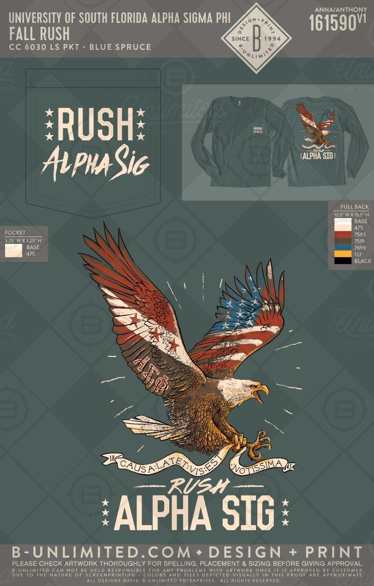 Alpha Sigma Phi Fall Rush #BUonYOU #greek #greektshirts #greekshirts #fraternity #alphasigmaphi #fallrush #eagles #americanflag