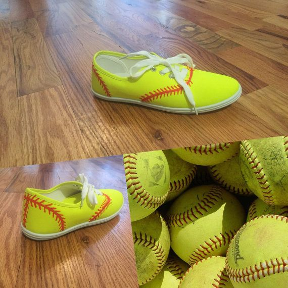 Hey, I found this really awesome Etsy listing at https://www.etsy.com/listing/224693137/painted-softball-shoes-great-softball