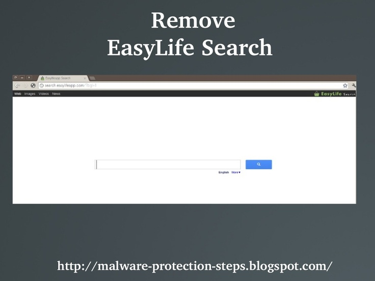 EasyLife Search (search.easylifeapp.com) is a browser hijacker that redirects domains and search results automatically to its own search engine.