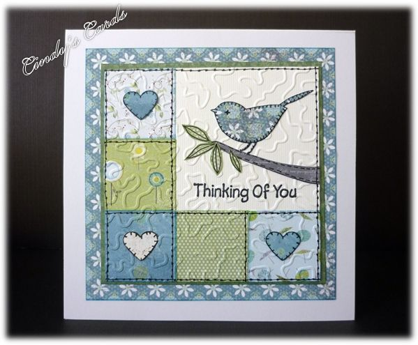 faux quilt card | Patchwork Bird Quilt by frenziedstamper - Cards and Paper Crafts at ...