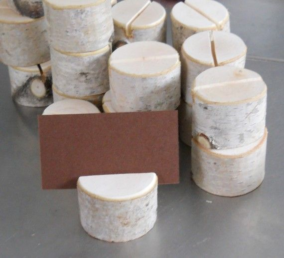 10 Birch Branch Stump Place Card Holders for Weddings Special Event $12.50