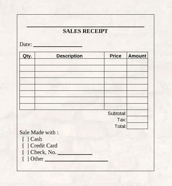 Sales Receipt Receipt Template Online Cash Receipt