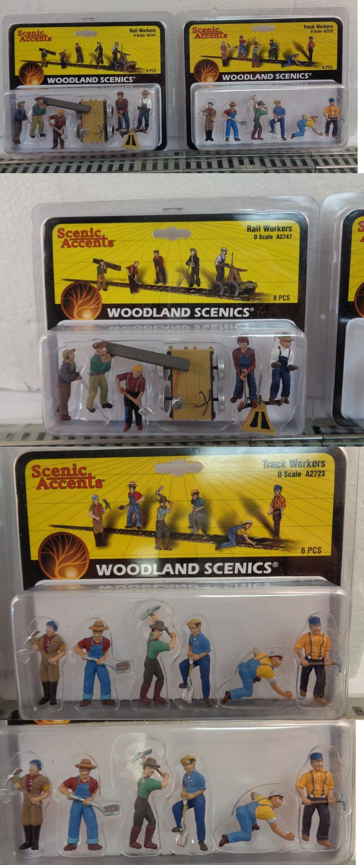 Figures and People 81053: O Scale Woodland Scenics Track And Rail Workers A2747 A2723 O Gauge -> BUY IT NOW ONLY: $42.5 on eBay!