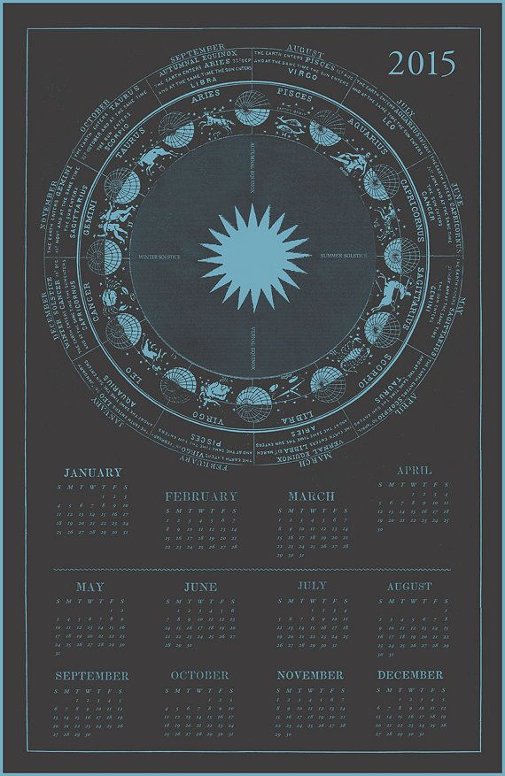 2015 Calendar Zodiac Calendar Astrology by LaurelCanyonDreaming zodiac #2015calendar #astrological #astrology #solstice #equinox #pisces #libra #aries #taurus #capricorn #virgo #gemini #leo #cancer #aquarius #sagittarius #scorpio